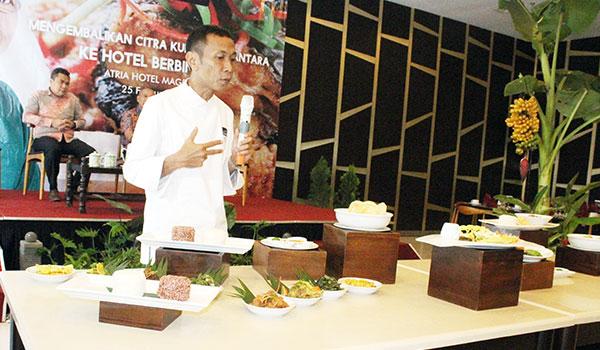 chef gatot di launching masakan nusantara