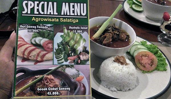 masakan khas salatiga Gecok Cabut Gunung