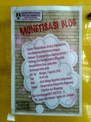 Publikasi monetisasi blog